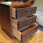軽井沢彫り|小引き出し 裁縫箱 桜の彫り 伝統工芸