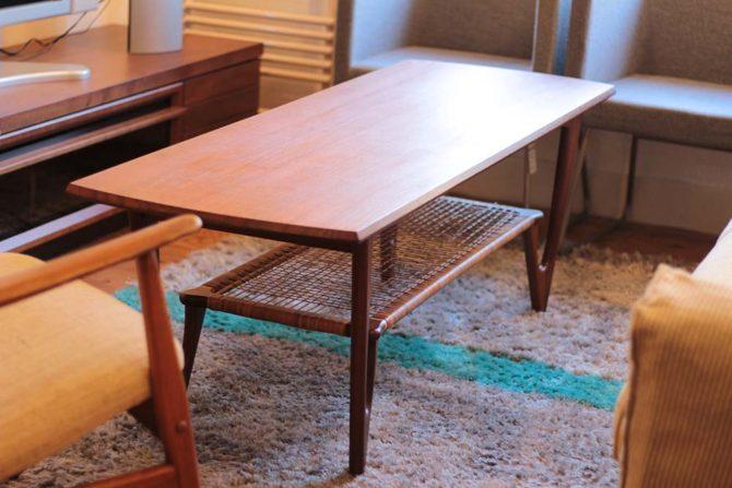 コーヒーテーブル|チーク材 北欧ヴィンテージ