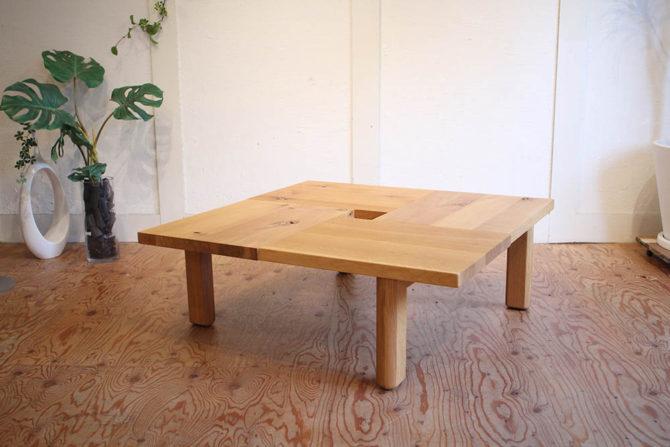 飛騨産業/キツツキ|森のことばシリーズ スクエア センターテーブル