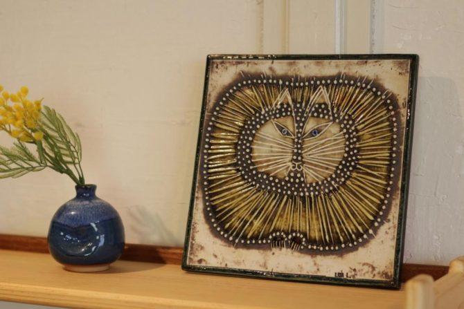 リサラーソン ユニック 猫 陶板