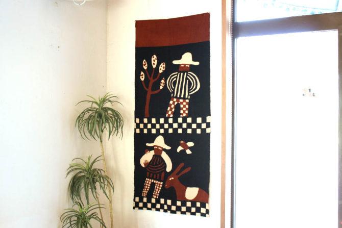 柚木沙弥郎|型染飾布 メキシコ人物 買取します