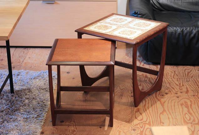 ジープラン/G-PLAN|タイルトップ ネストテーブル チーク材 ヴィンテージ
