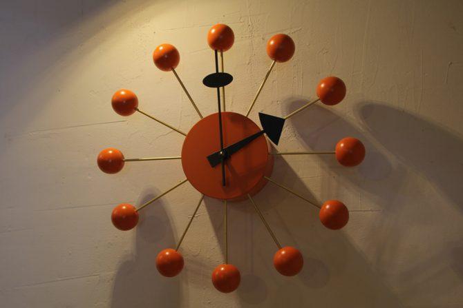 ジョージ・ネルソンボールクロック 壁掛け時計 オレンジ ヴィトラ