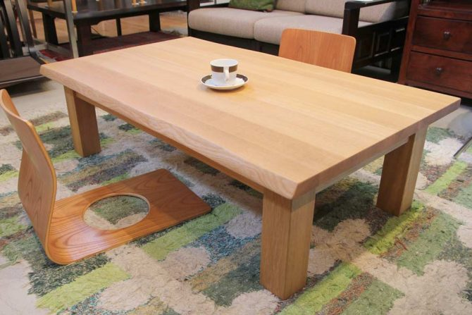 柏木工/KASHIWA|オーク無垢材 座卓 ローテーブル