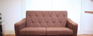 カリモク60|ロビーチェア 2人掛けソファ ブラウン 布地