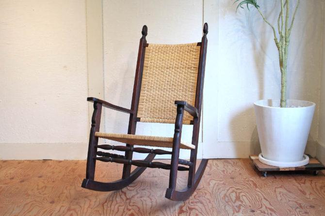 松本民芸家具|#515 E型 藤張りロッキングチェア