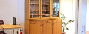 飛騨産業 キツツキマーク クレセント 食器棚