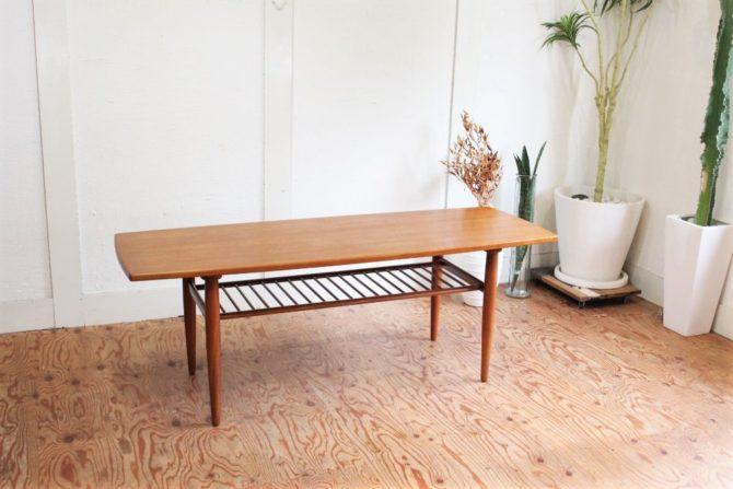 デンマーク製 チーク材コーヒーテーブル ヴィンテージ