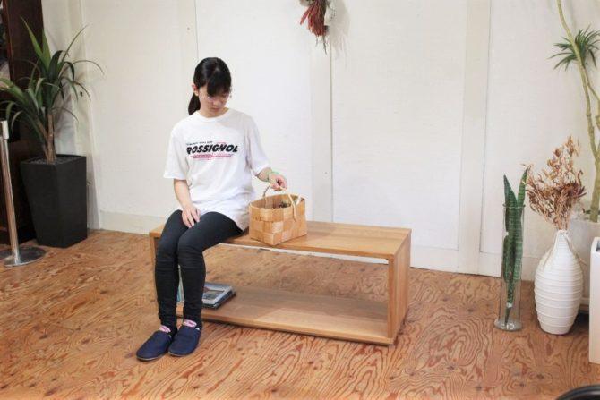 無印良品 オーク無垢材ベンチテーブル