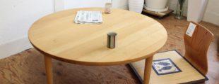 柏木工 オーク無垢材テーブル
