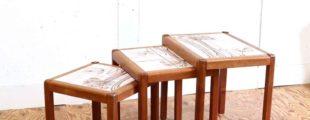 デンマーク製 ヴィンテージネストテーブル タイルトップ